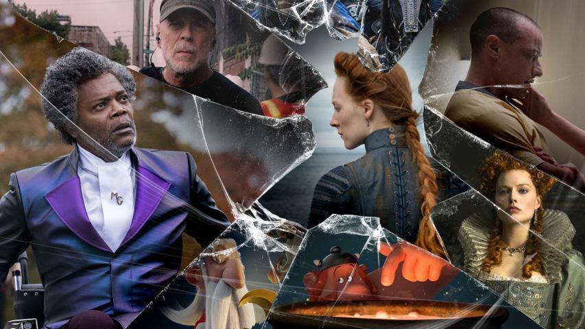 Новые фильмы: «Стекло», «Астерикс и тайное зелье», «Две королевы», «Пышка». Коллаж (с) Weburg.net