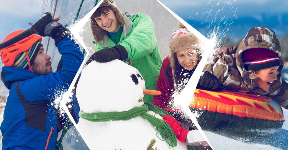 Отдыхаем на свежем воздухе: студенческий праздник Зачетка, спортивный фестиваль Ледовый штурм 2020, семейный праздник в Белой лошади. Коллаж © Weburg.net