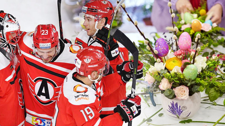 Встречаем весну в «Меге»: смотрим хоккей и составляем весенние букеты. Коллаж (с) Weburg.net