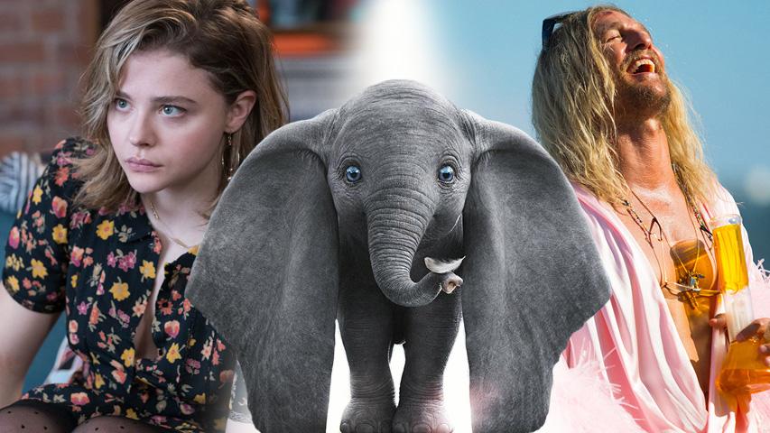 Новые фильмы в кино: Дамбо, Пляжный бездельник, В объятиях лжи, Мы, Микеланджело. Бесконечность. Коллаж © Weburg.net