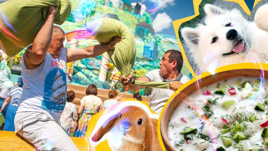 Развлчения для всей семьи в Екатеринбурге: праздник Сабантуй, фестивальокрошки, семейный выходной Цирковой калейдоскоп. Коллаж © Weburg.net