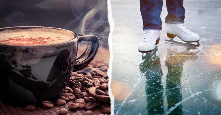 Праздничные открытия в выходные в Екатеринбурге с 29 ноября по 1 декабря, обзор: кофейня Кофе 18+ в Музее об этом и каток возле башни Исеть. Коллаж © Weburg.net
