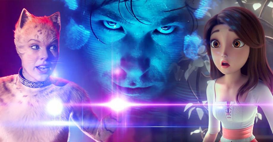 Новые фильмы в кино: Вторжение, Кошки, Красные туфельки и семь гномов. Коллаж © Weburg.net