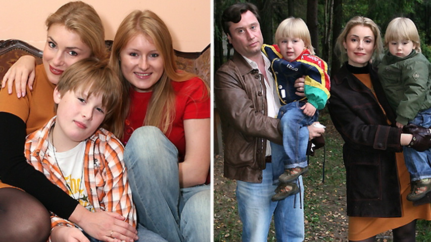 Актриса Мария Шукшина с детьми. Коллаж с сайта telestol.ru