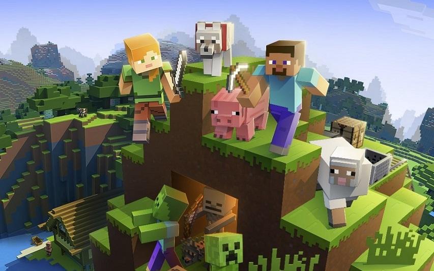 Кадр из игры «Minecraft»