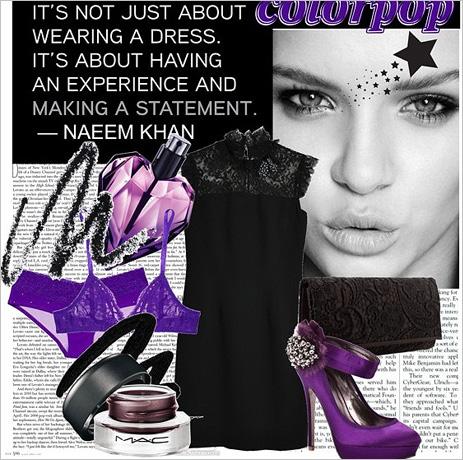 Фиолетовый цвет означает сексуальную неудовлетворенность