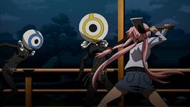 Кадр из аниме Mirai Nikki