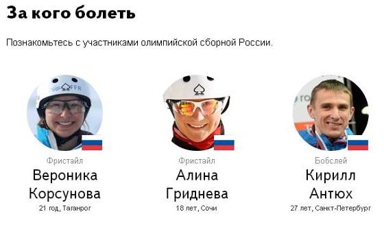 Страница проекта «Зимние игры-2014»