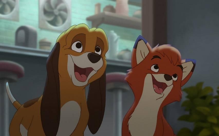 Кадр из мультфильма «Лис и пес»