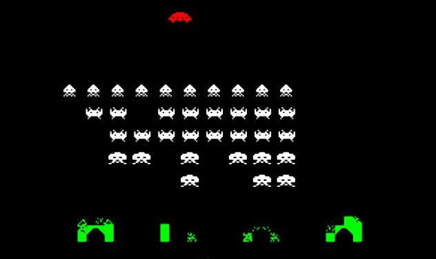 Скриншот игры Space Invaders