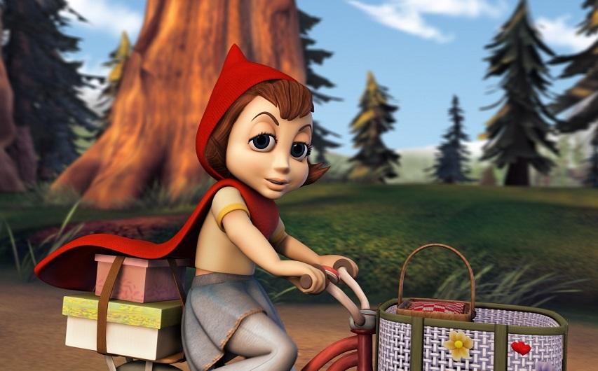 Кадр из мультфильма «Правдивая история Красной шапки»