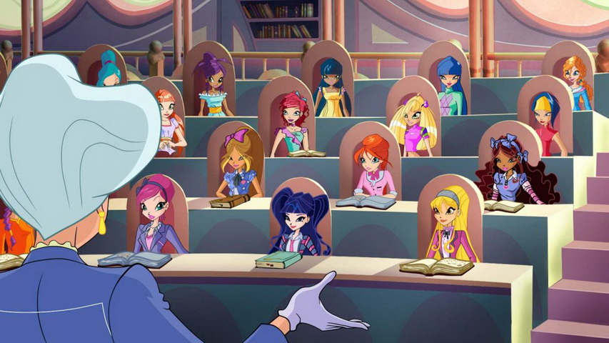 Кадр из мультсериала «Клуб Винкс: Школа волшебниц»