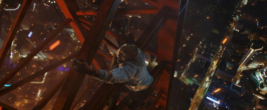 Кадр из фильма «Небоскреб»
