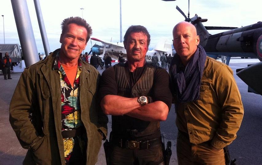 На съемках фильма «Неудержимые 2». Фото с сайта kinopoisk.ru