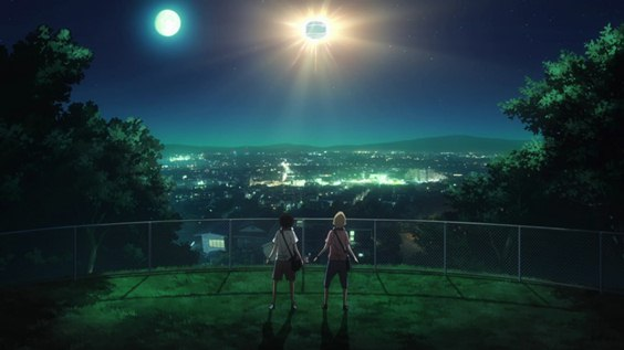 Кадр из аниме Space Brothers