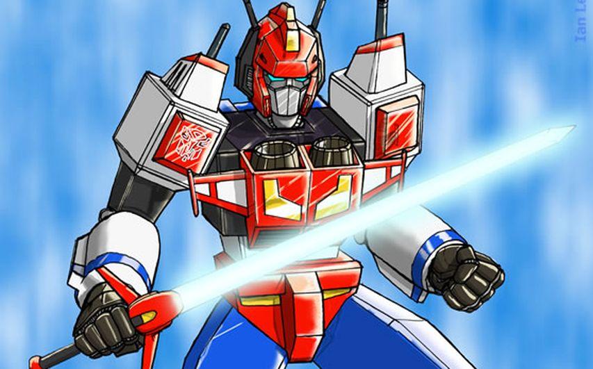 Кадр из мультфильма «Трансформеры: Смертоносец против Истребителя»