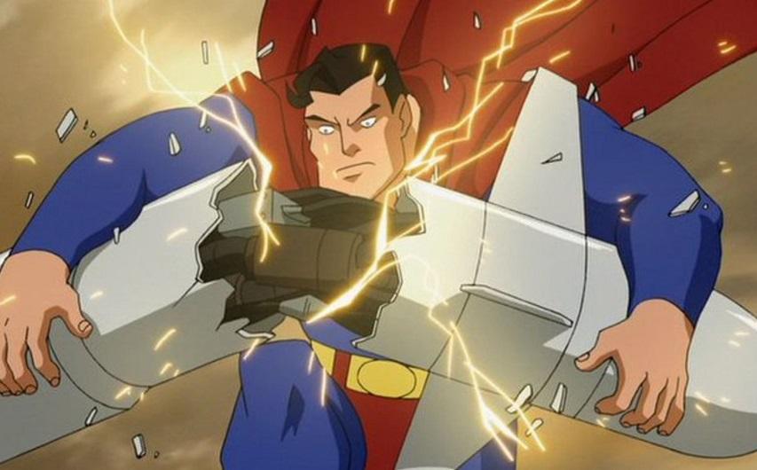 Кадр из мультфильма «Супермен против Элиты»