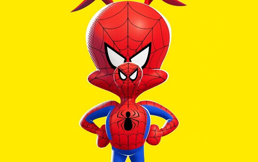 Кадр из мультфильма «Человек-паук: Через вселенные»