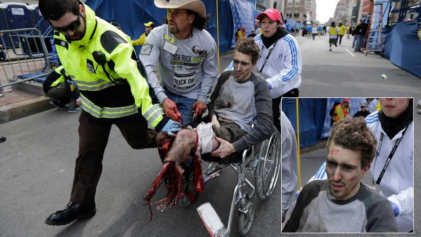 Джефф Бауман после теракта в Бостоне в 2013 году. Фото с сайта earth-chronicles.ru