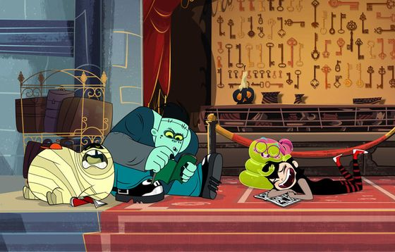 Кадр из мультсериала «Монстры на каникулах»
