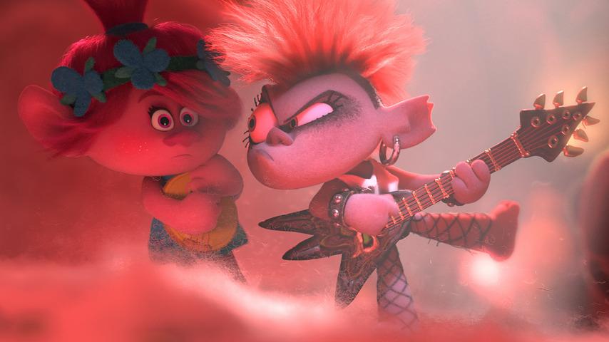 Кадр из фильма «Тролли. Мировой тур»