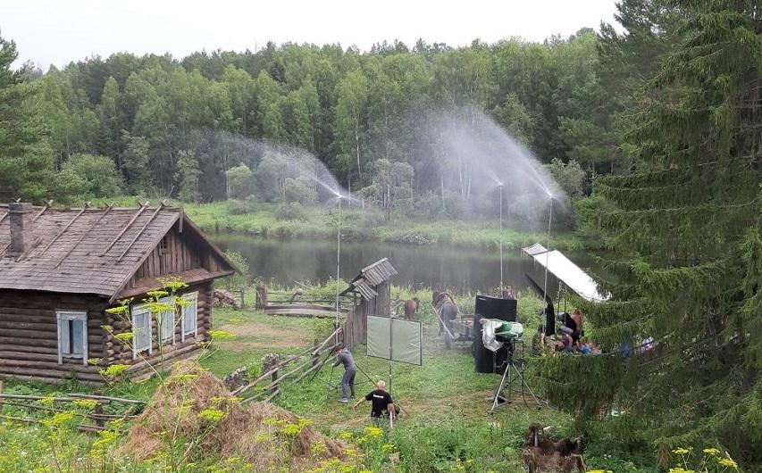 На съемках сериала «Угрюм река». Фото с сайта nashural.ru