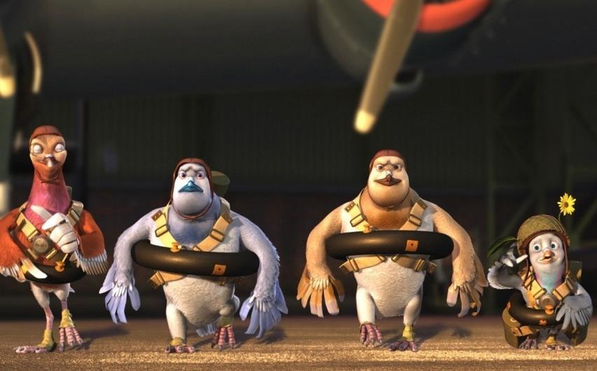 Кадр из мультфильма «Вэлиант. Пернатый спецназ»