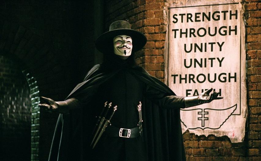 Кадр из фильма «V значит вендетта»