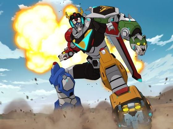 Кадр из мультсериала «Вольтрон»