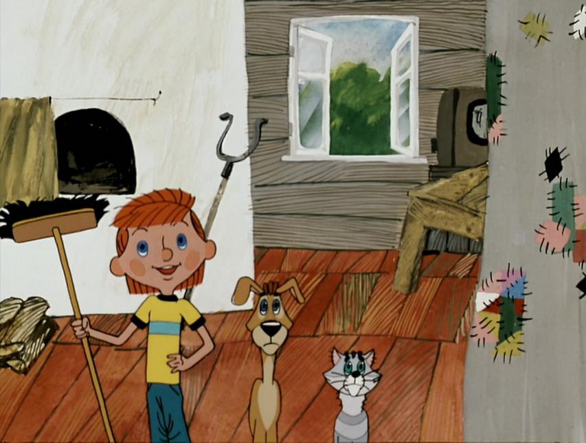 Кадр из мультфильма «Трое из Простоквашено»
