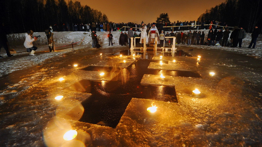 Крещенские купели. Фото с сайта vesti.ru