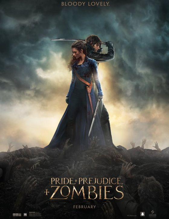 Постер фильма «Гордость, предубеждения и зомби»