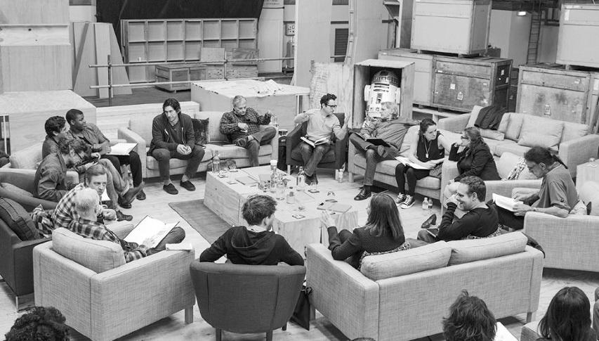 Читка сценария «Звездных войн 7». Фото с сайта imdb.com