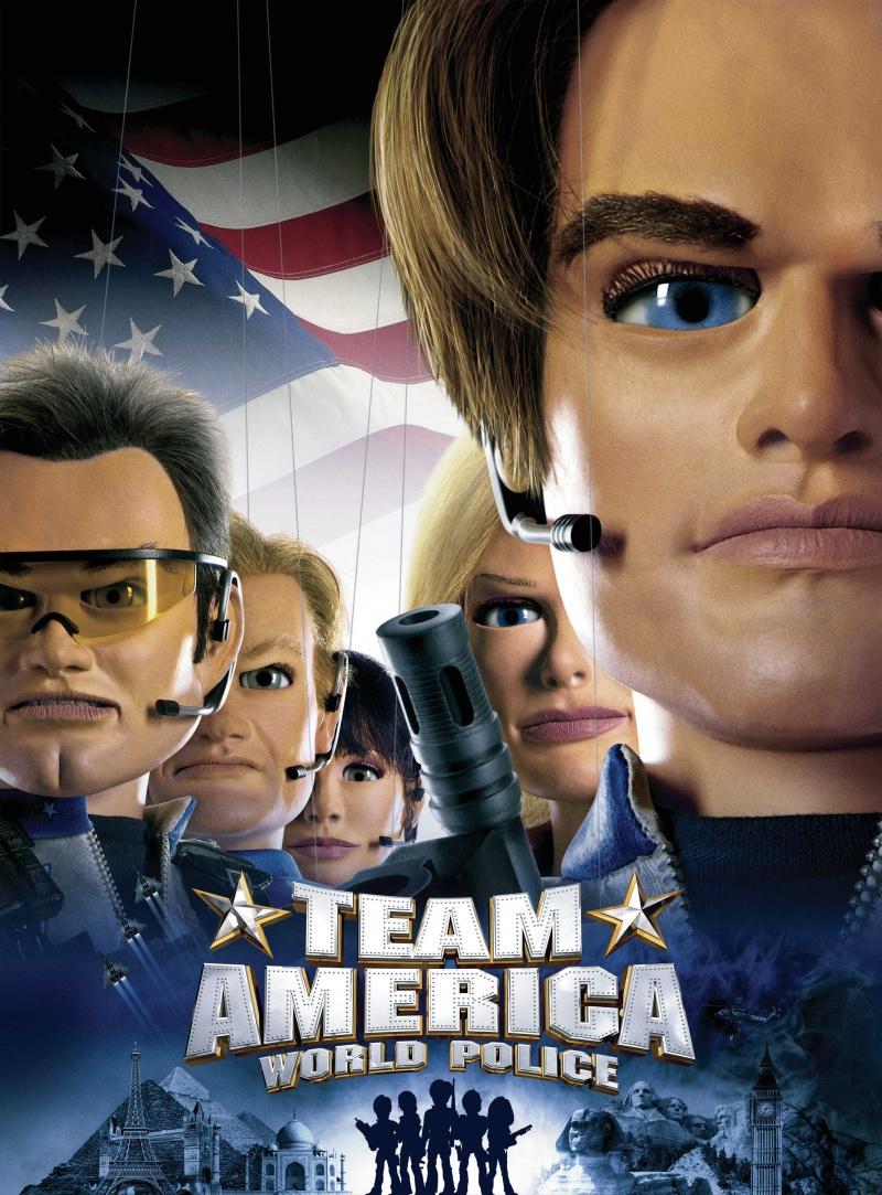 Отряд «Америка»: Всемирная полиция. Обложка с сайта amazon.com