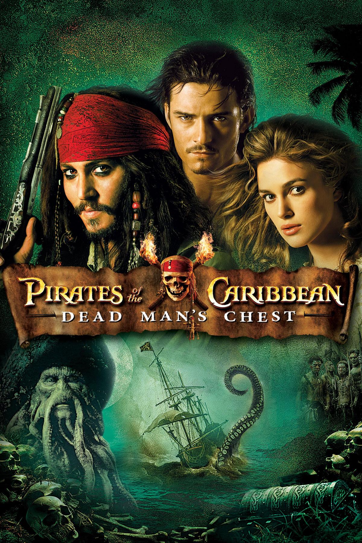 Пираты Карибского моря: Сундук Мертвеца. Обложка с сайта blu-ray.com