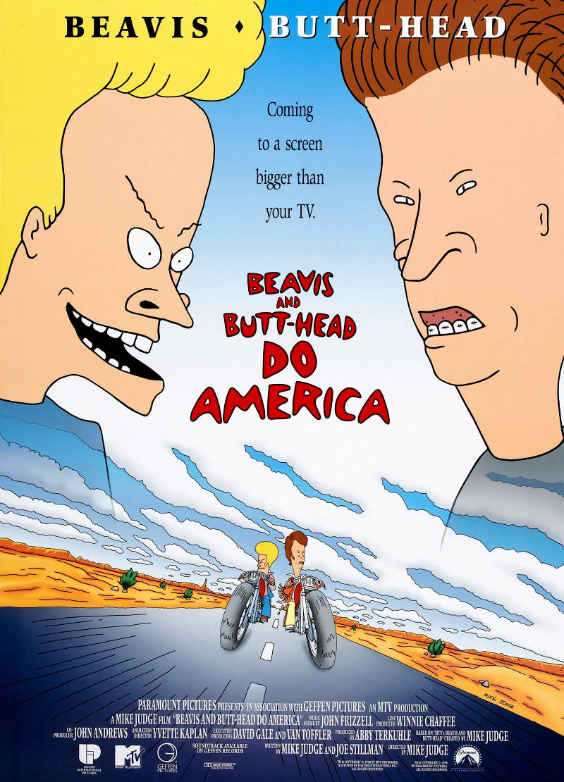 Бивис и Батт-Хед уделывают Америку. Обложка с сайта ipicture.ru