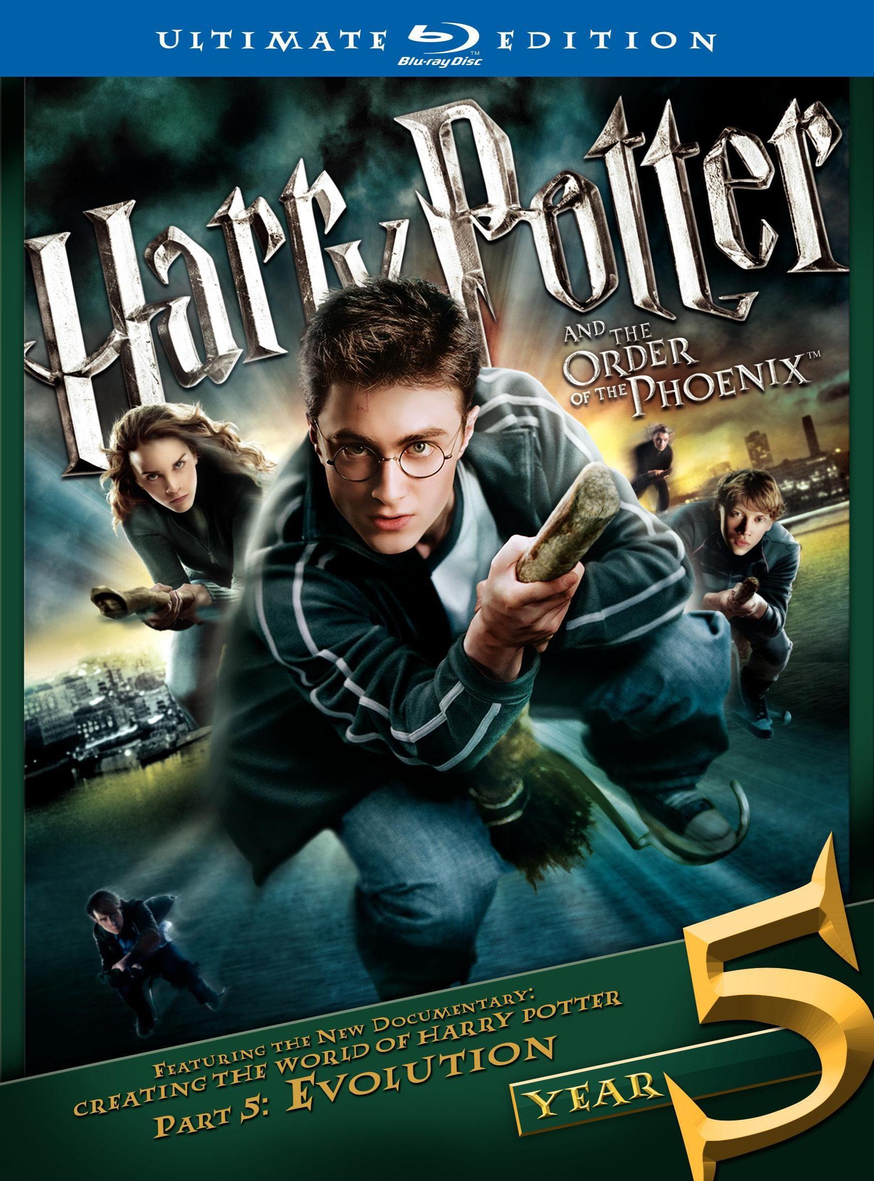 Гарри Поттер и орден Феникса. Обложка с сайта blu-ray.com