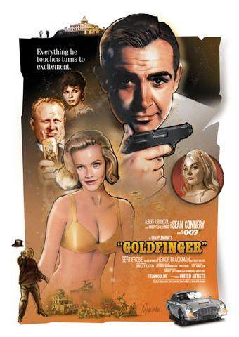 Джеймс Бонд 007: Голдфингер. Обложка с сайта blu-ray.com