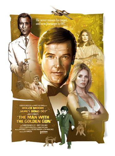 Джеймс Бонд 007: Человек с золотым пистолетом. Обложка с сайта amazon.de