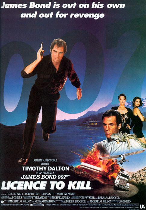 Джеймс Бонд 007: Лицензия на убийство. Обложка с сайта blu-ray.com