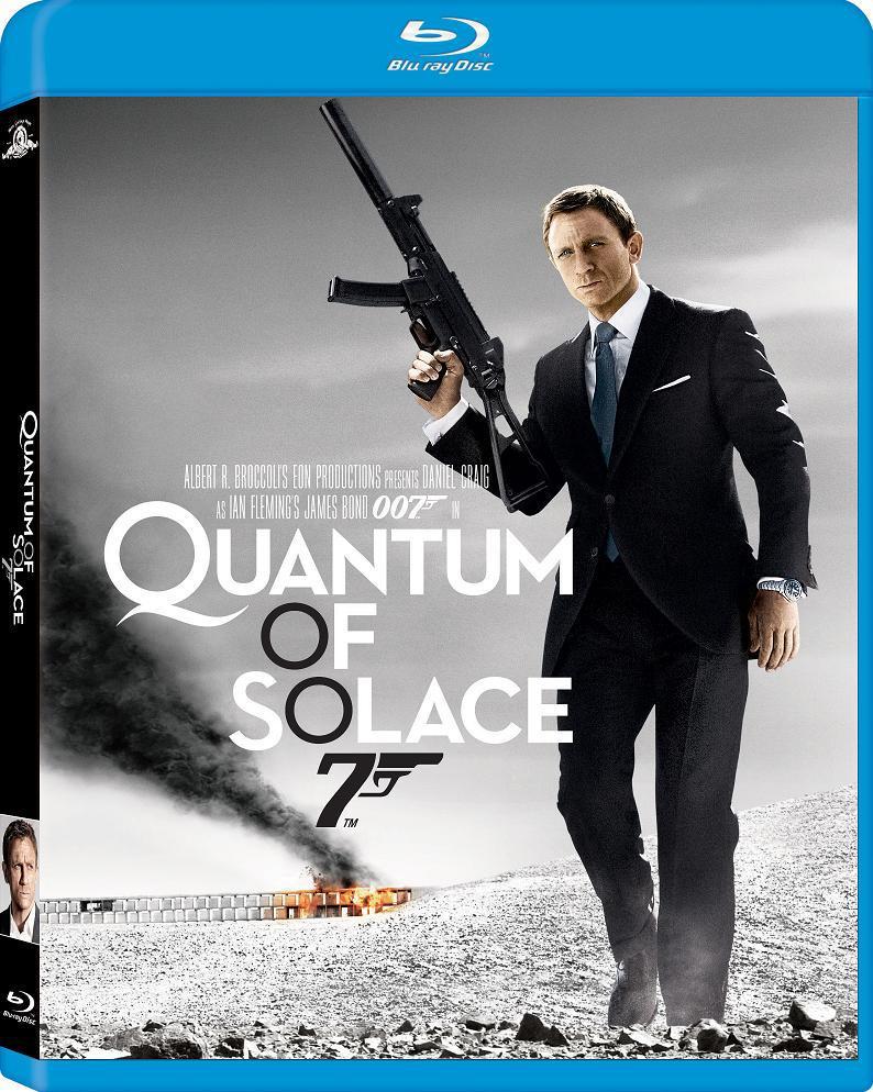 Джеймс Бонд 007: Квант милосердия. Обложка с сайта blu-ray.com