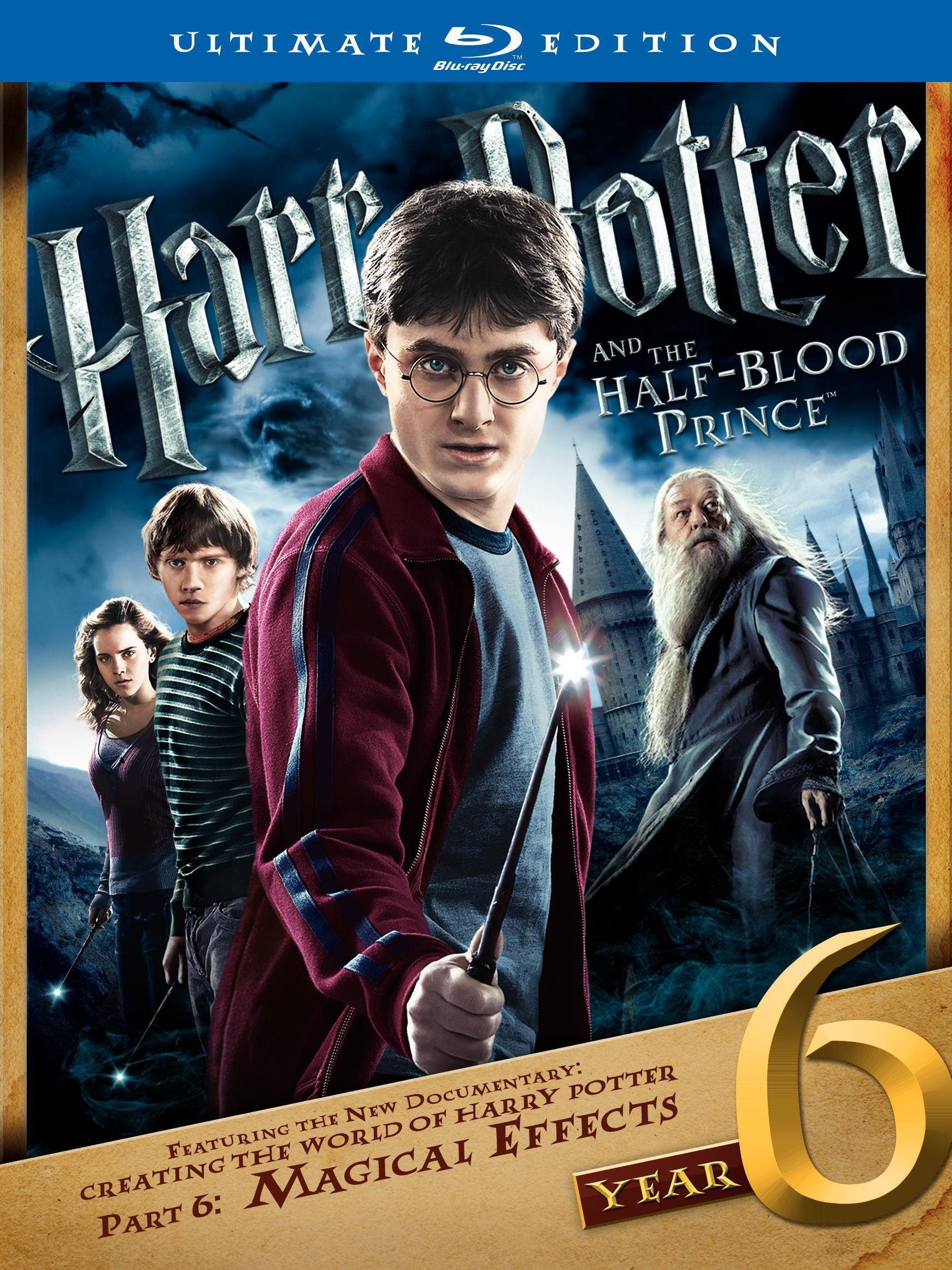 Гарри Поттер и принц-полукровка. Обложка с сайта blu-ray.com