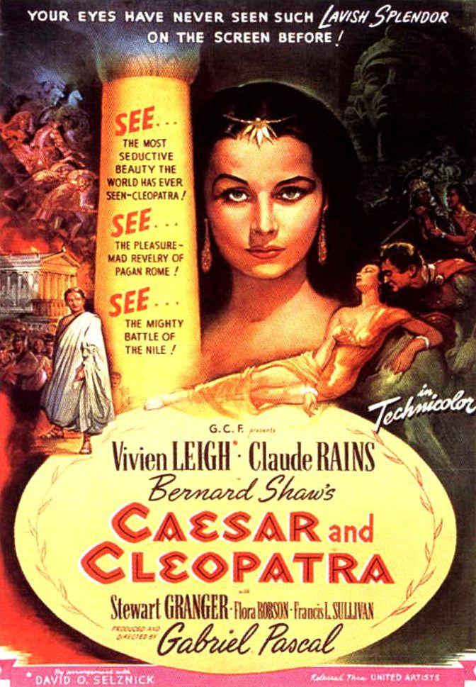 Цезарь и Клеопатра. Обложка с сайта kinopoisk.ru