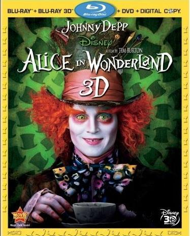 Алиса в стране чудес. Обложка с сайта blu-ray.com