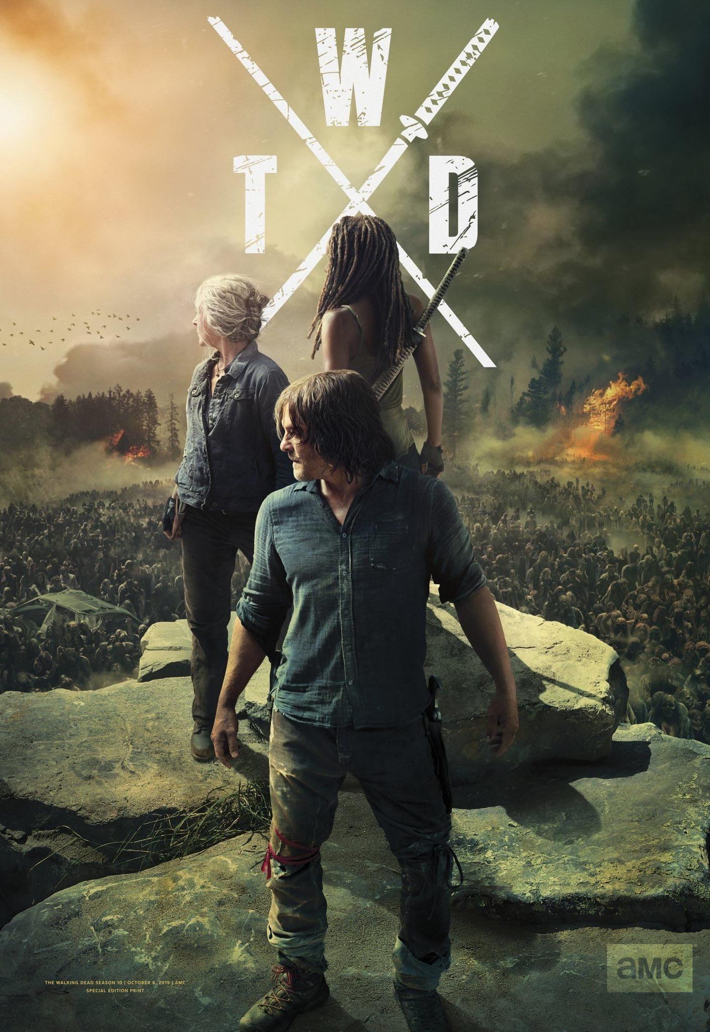 Ходячие мертвецы. Постер с сайта telestrekoza.com