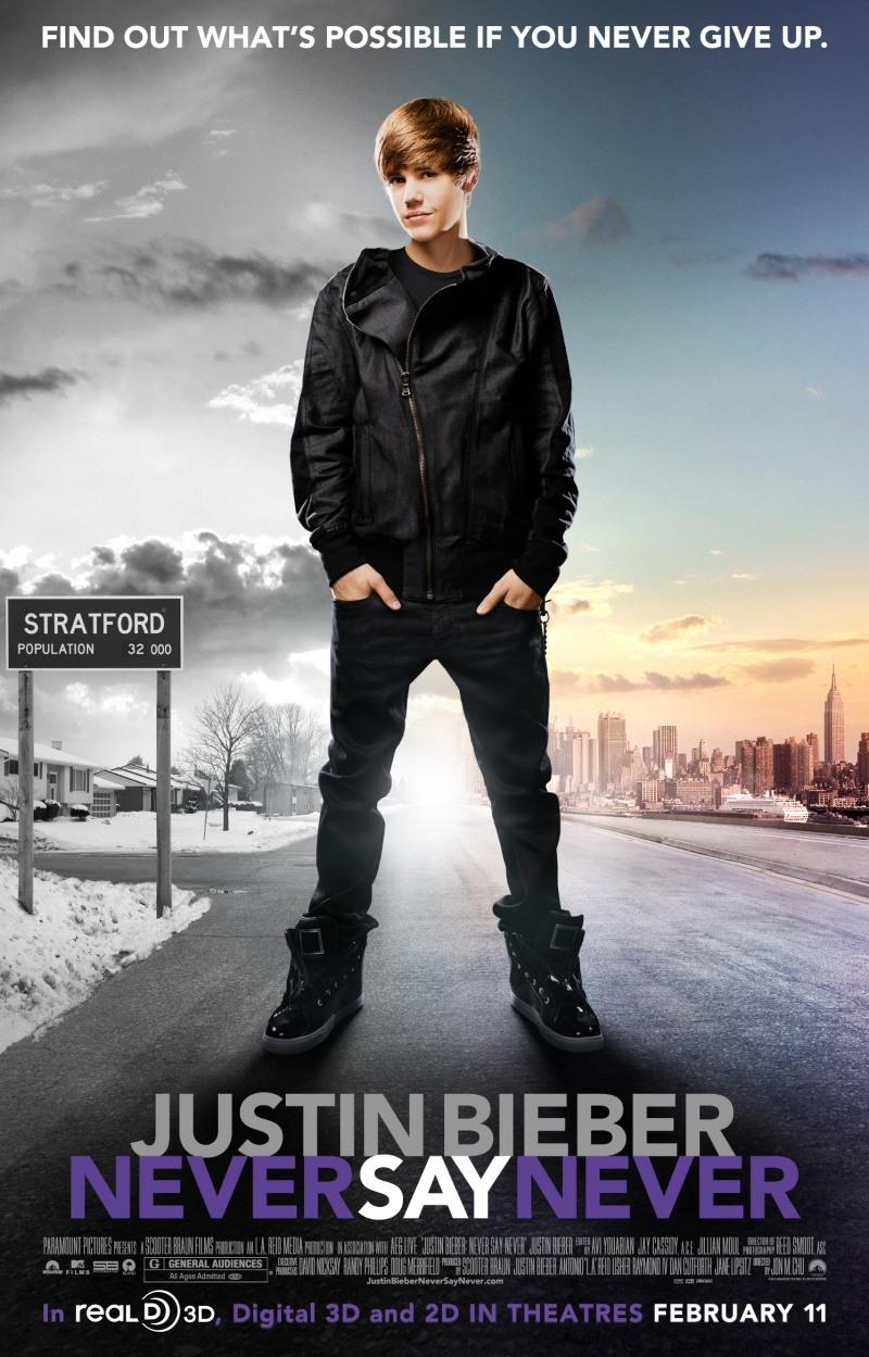 Джастин Бибер: Никогда не говори никогда. Постер с сайта kinopoisk.ru