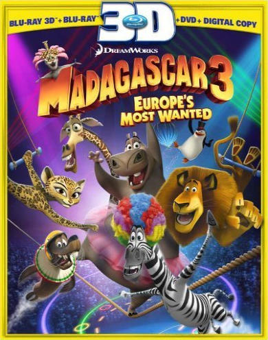Мадагаскар 3. Обложка с сайта keep4u.ru