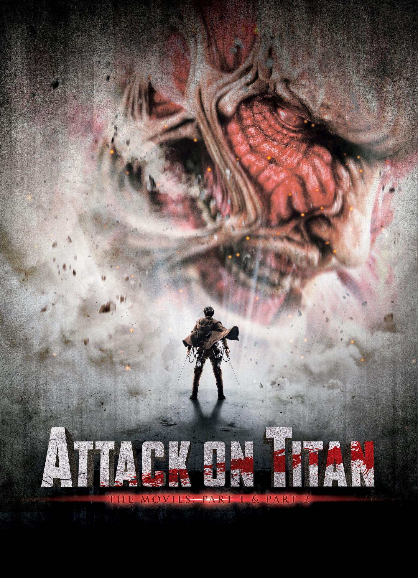 Атака Титанов. Фильм первый: Жестокий мир. Обложка с сайта kino-govno.com