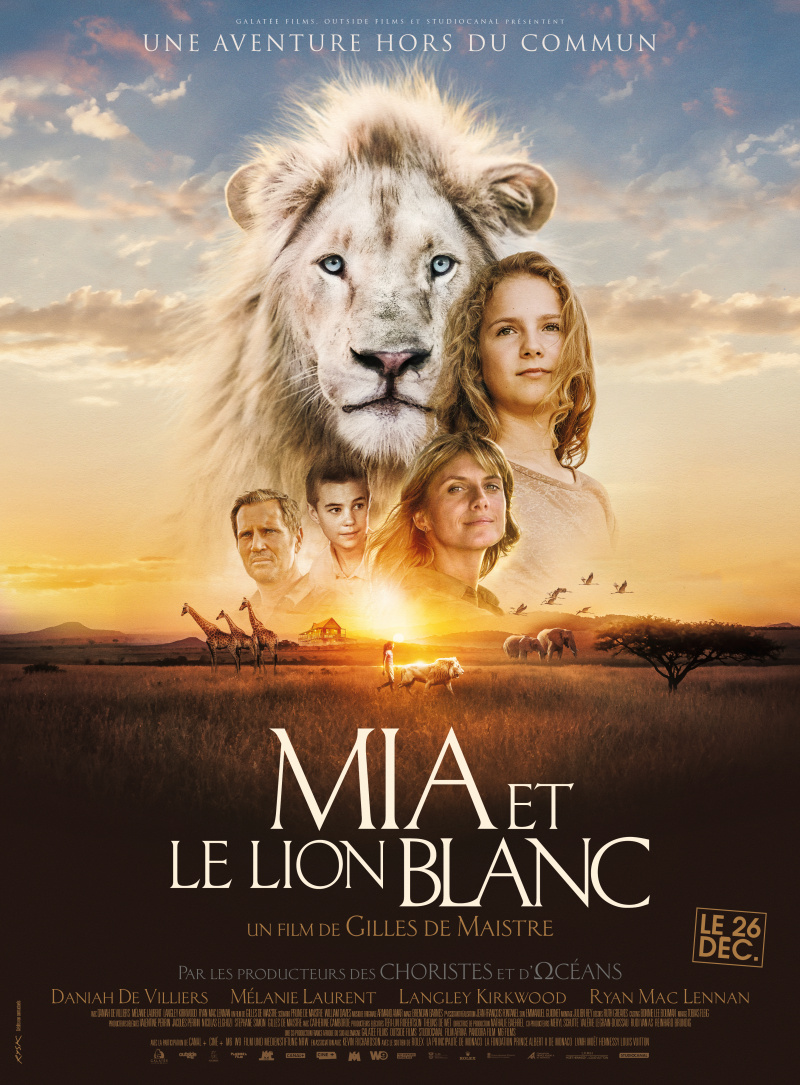 Девочка Миа и белый лев. Обложка с сайта ozon.ru