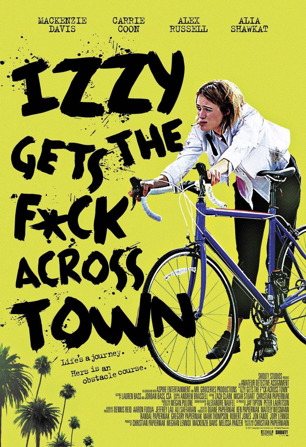 Иззи прётся через город. Обложка с сайта kino-govno.com